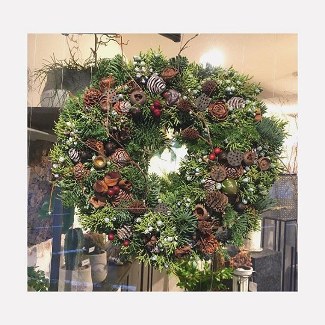 今日の花クリスマススリースご自宅に。#flower #conifer #wreath #christmas #terre #terreplant #kochi #flowershop